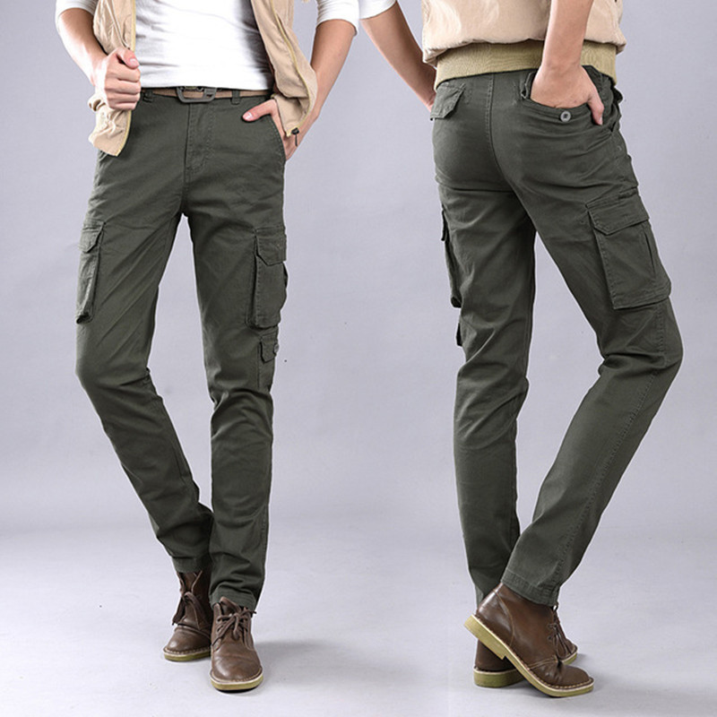 Winter Pants Long-Trousers Multi-Pocket Overall Men Military Men's Casual High-Quality