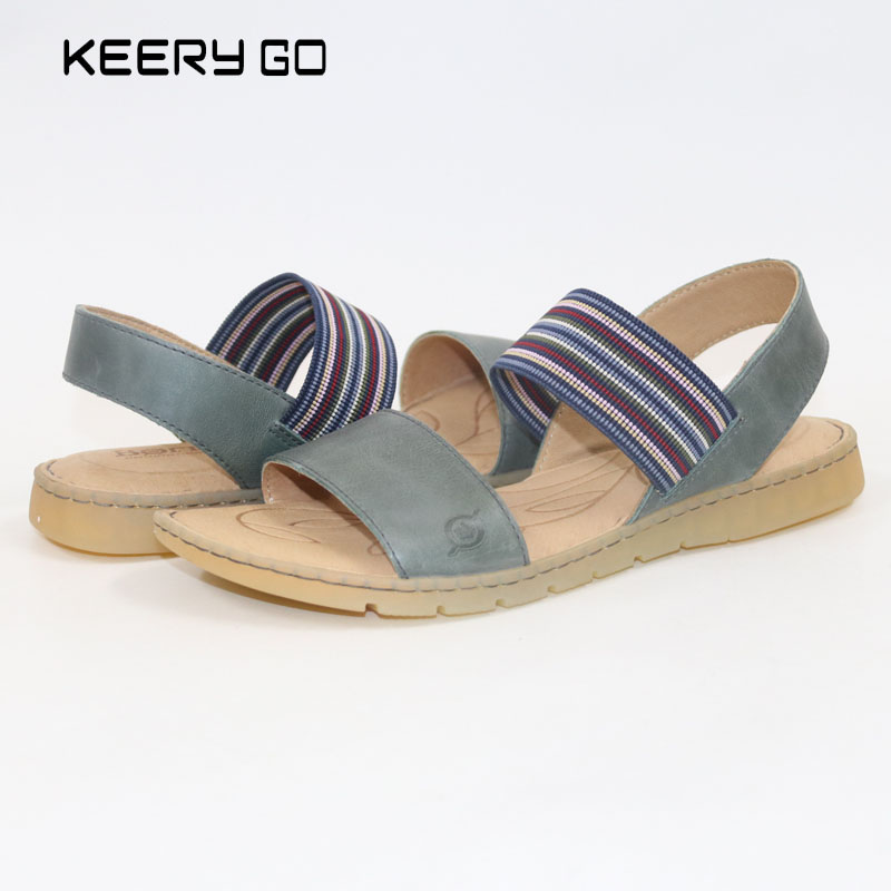 2018new high-end bovine bottom full leather sandals and Pippin fashion color matching  Women's sandals Super comfortable sandals umesh singh sushil kumar and rajib deb monograph on bovine leptin gene
