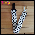 3pcs/lot Cross Pattern Plastic Infants Pacifier Clip, Organic Cotton Pacifier Clip Funny Nipple Baby Toy Pacifier Holder