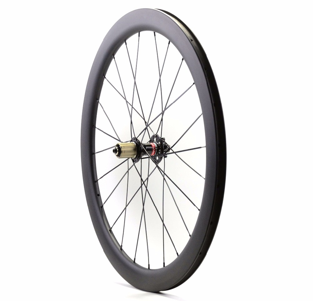 Image 5 - 700C الطريق مكبح قرصي عجلات الكربون غير المتماثلة الخلفية 50 مللي متر عمق 25 مللي متر عرض الفاصلة/أنبوبي القرص cyclocros دراجة عجلات الكربون etcarbon wheelswheel 50mmcarbon wheels 50mm -