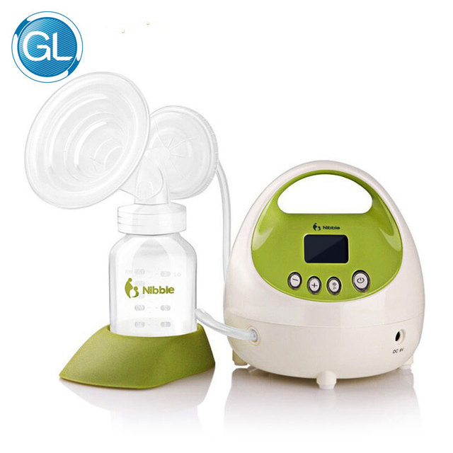 GL Hot Automatic Electric Breast Pump Portable Breast Feeding 5W Powerful Large Suction LCD Display with Milk Bottle US Plug