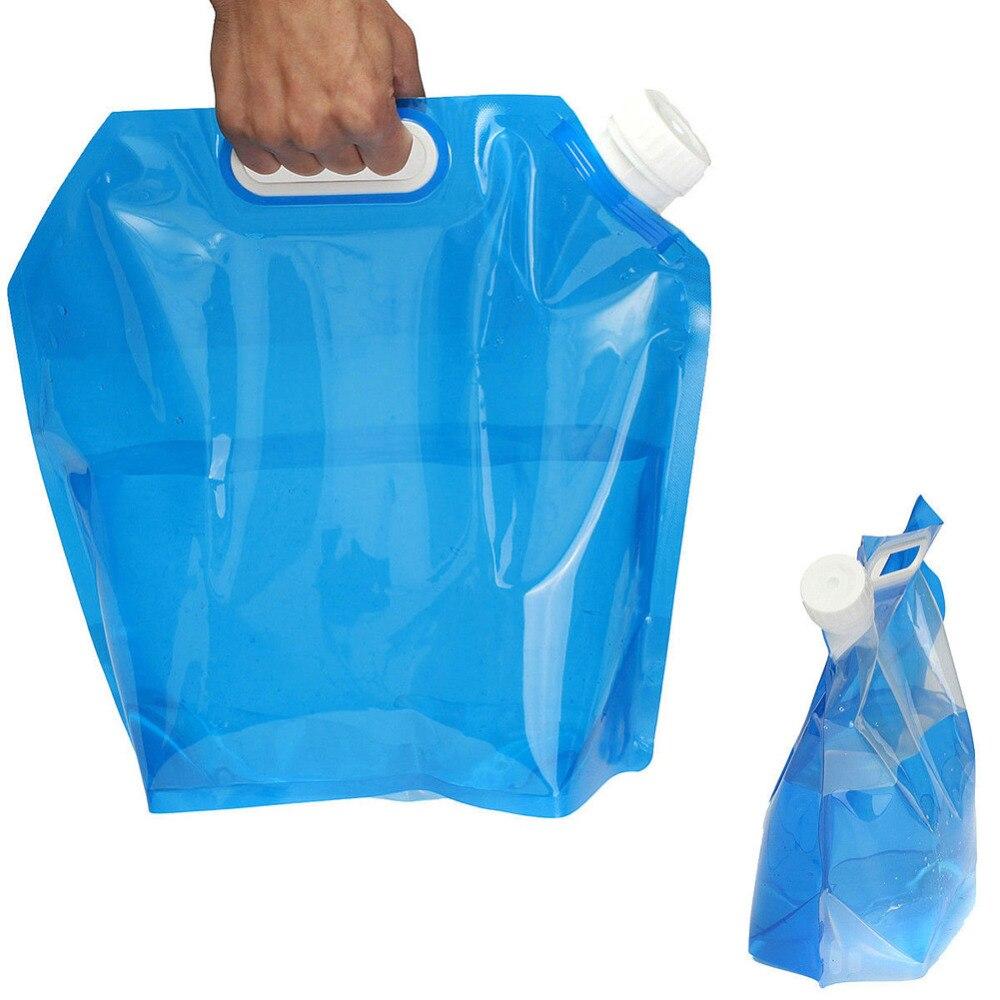 5L PE Wasser Tasche Für Tragbare Falten Wasser Lagerung Heben Tasche Für Camping Wandern Überleben Trink Lagerung Blase 30*32,5 cm