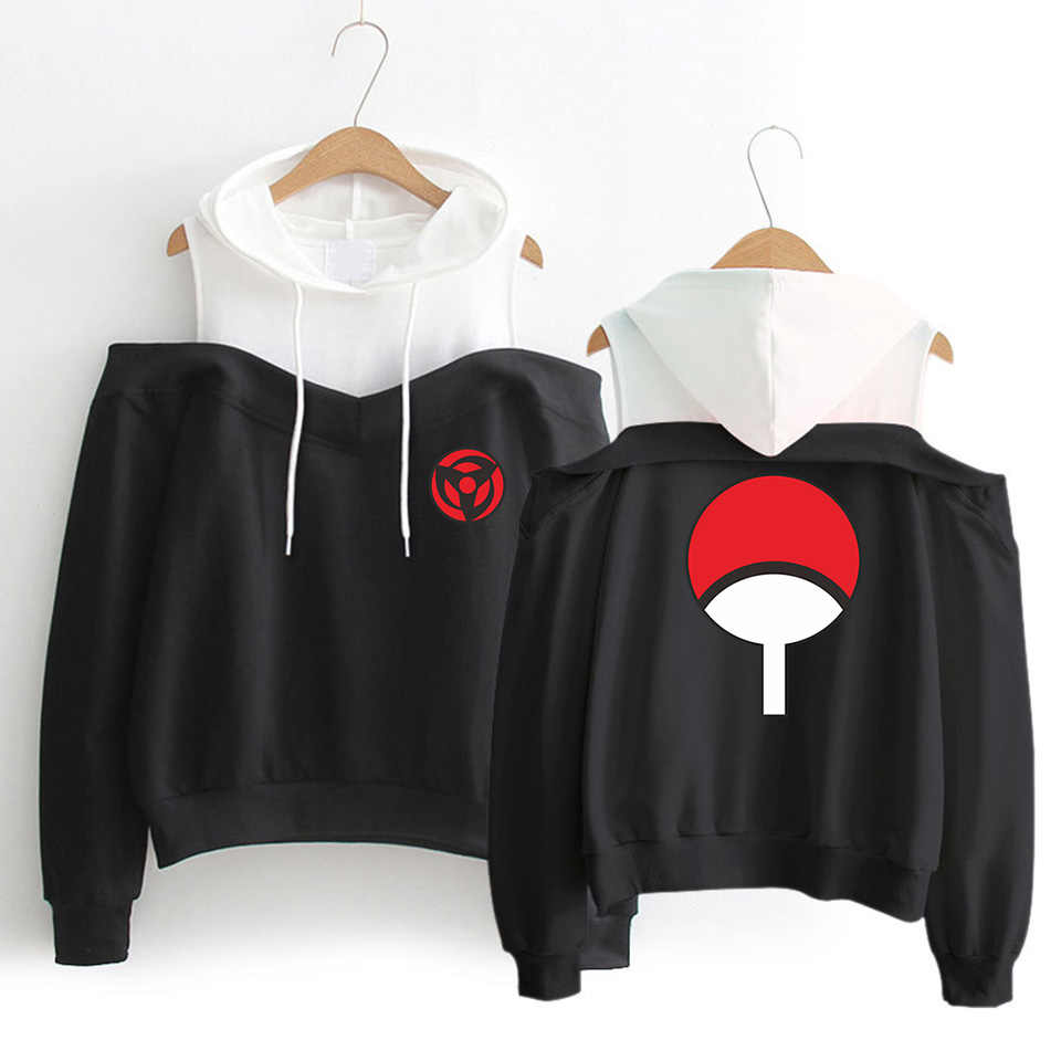 WEJNXIN High Quality Sexy Off-Shoulder Hoodies Anime NARUTO Design Sweatshirt Naruto Hoodies Unisex Hip Hop Brand Clothing