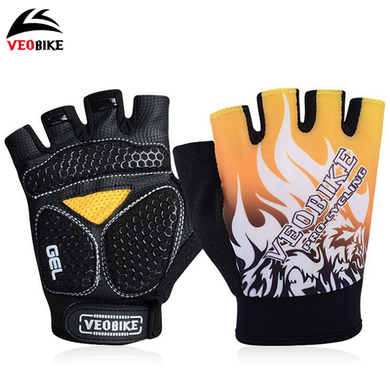 VEOBIKE Half Finger Cycling Gloves Breathable Guantes Ciclismo Sport Luvas MTB Riding Hiking Camping Bike Bicycle Cycling Gloves