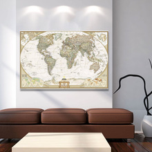 10PC Newest Vintage World Map Home Decoration Detailed Antique Poster Wall Chart Retro Paper Matte Kraft 30*45CM