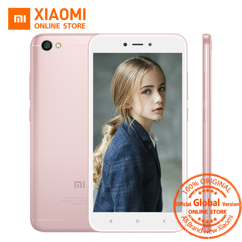 Глобальная версия Xiaomi Redmi Note 5A 5 2 ГБ 16 ГБ мобильный телефон Snapdragon 425 4 ядра Процессор 5.5 дюймов 13.0MP 3080 мАч