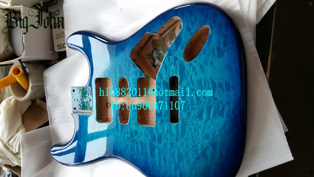 free shipping new single wave electric guitar blue mahogany body with sticking tigger stripes F-2171 блокнот printio харли квинн