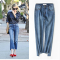 Chic Flare Jeans for Women High Waist Ankle-Length Pants Female Denim Plus Size Fashion High Street Flare Pants P45