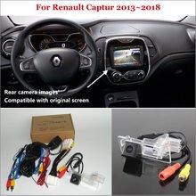 Yeshibation Car Rear View Back Up della Macchina Fotografica di Inverso Set Per Renault Captur 2013 ~ 2018 di Visione Notturna di HD RCA e originale Dello Schermo