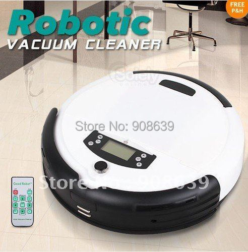 Free Shipping For Russian Buyer/White Color  4 In 1 Robotic Automatic Recharge Robot Vacuum UV Cleaner Floor Sweeper Mopper