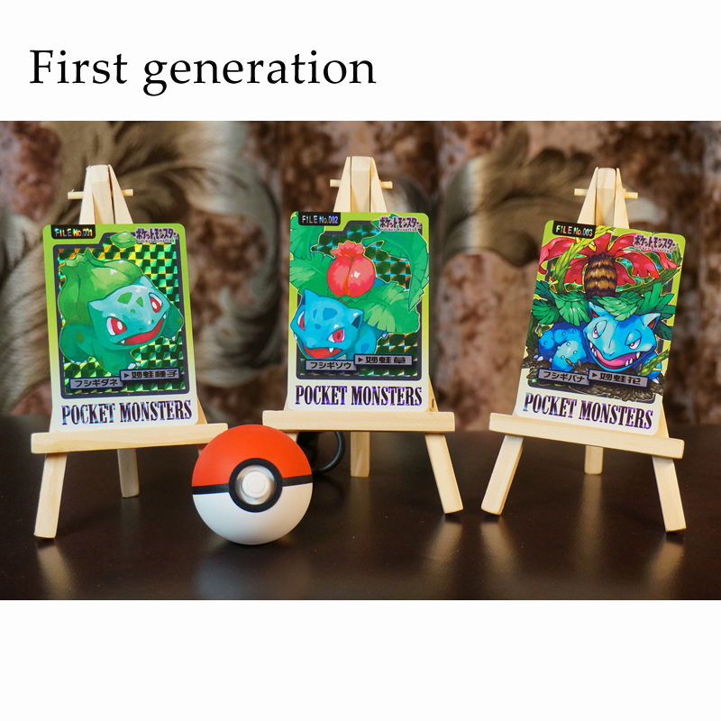 Pokemon Go NS Skill Set Flash Card Square Flashing Gauze Flash Collection Gift Kids Toys