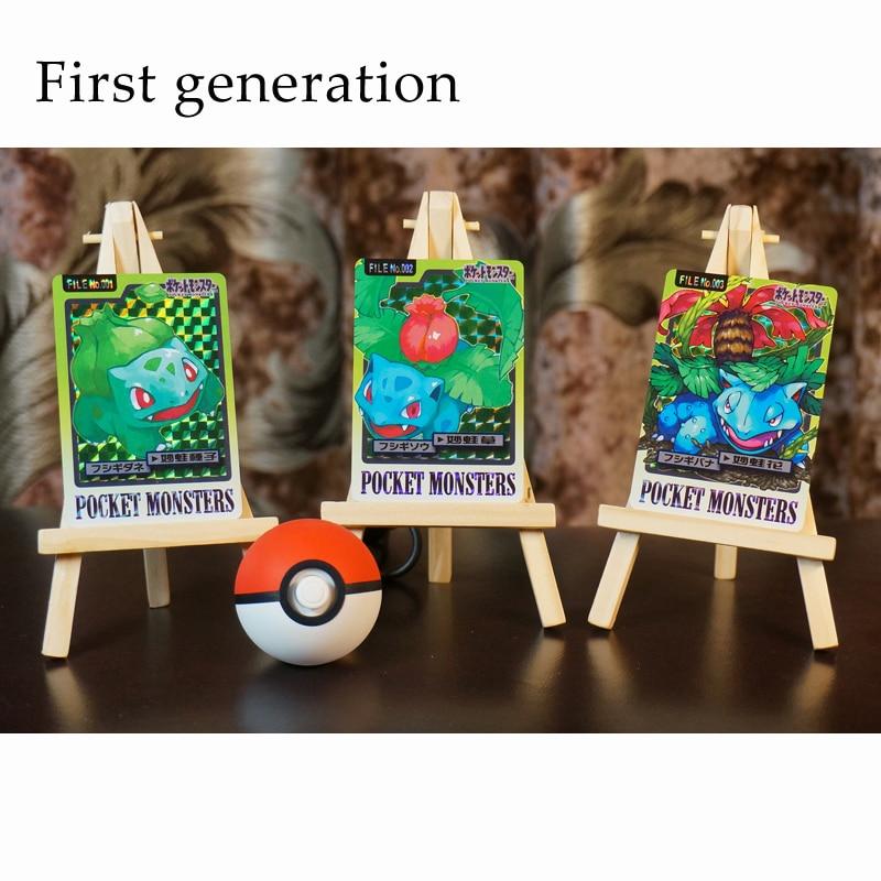 Pokemon Go NS Skill Set Flash Card Square Flashing Gauze Flash Collection Gift Kids Toys