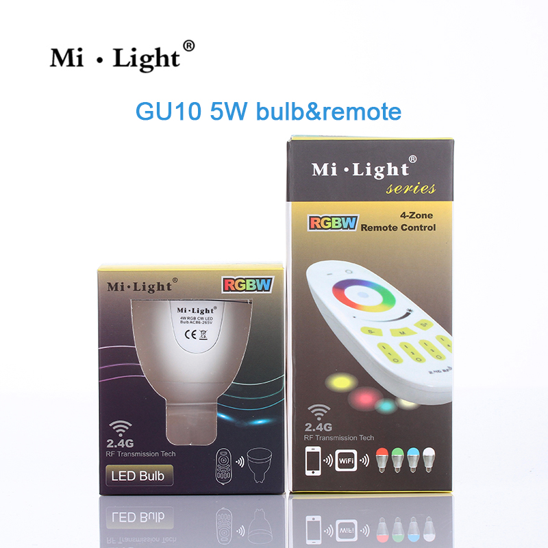 5W Milight GU10 RGB RGBW/WW LED Lamp Dimmable LED Light Bulb + 2.4G Wireless Touch RF Remote Controller for indoor Lighting nokotion 650854 001 main board for hp pavilion dv6 dv6 6000 laptop motherboard socket fs1 ddr3 ati hd6750 1gb page 10