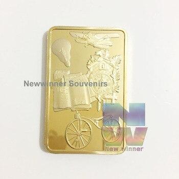 27473a773ed6 1 unids 1 onza Alemania inventó desafío moneda alemán oro plateado token  bar colección regalo del metal