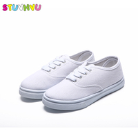 Boys Girls White Shoes Sneakers Children S Canvas Shoes Breathable 2018 Spring New Fashion Basket Running