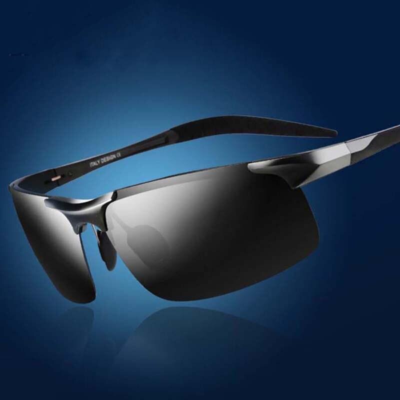Алюминий магния поляризованные солнцезащитные очки мужские рыболовные очки для отдыха поляризованный Рыбалка Очки 8177 ездить очки Очки ...
