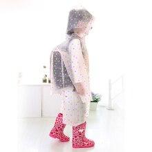 Children Raincoat Student Rainwear Reserved Backpack Translucent Non-disposable Rain Gear Jelly Glue EVA Material Camp Tourism