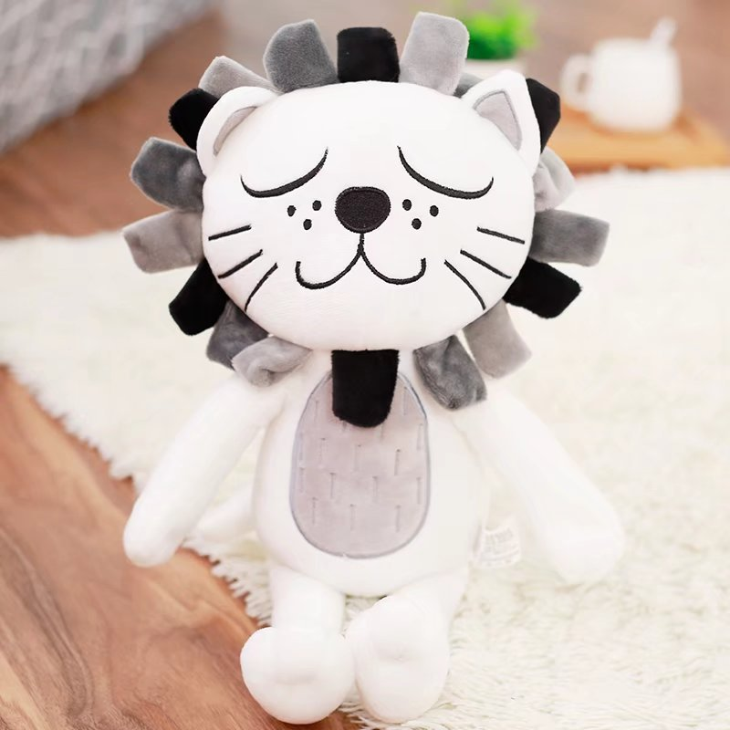 Lion head pillow cat child pacification plush toy doll home children room decoration doll 40cm