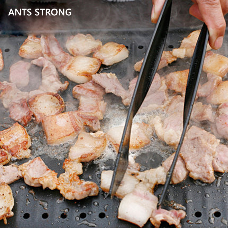 ANTS STRONG nylon cover handle BBQ tongs/outdoor picnic food tongs barbecue clip clamp barbecue tool fixture