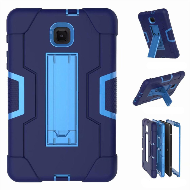 Case For Samsung Galaxy Tab A 8.0 2018 T387 T387V Shock Proof Full Body Cover Stand Sleeve For SM T387 SM-T387 Case +Film