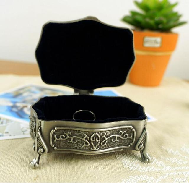 European style class carving metal wedding Jewellery Boxes Princess jewelry case fashion jewelry gift boxes Home Decor wholesale
