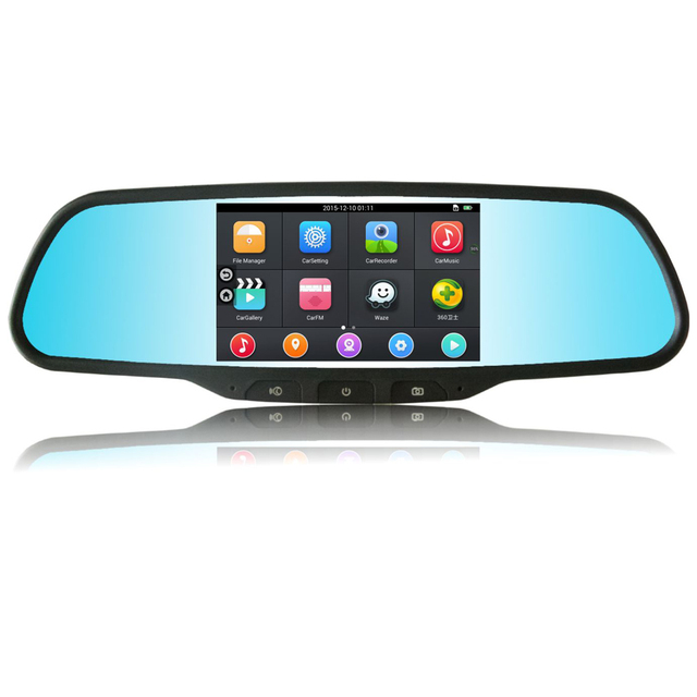 """EZONETRONICS Car 5"""" WIFI Rearview Mirror Monitor with GPS DVR FM Transmitter Android 4.4 Quad Core 512MB DDR3 8G Flash  2100"""