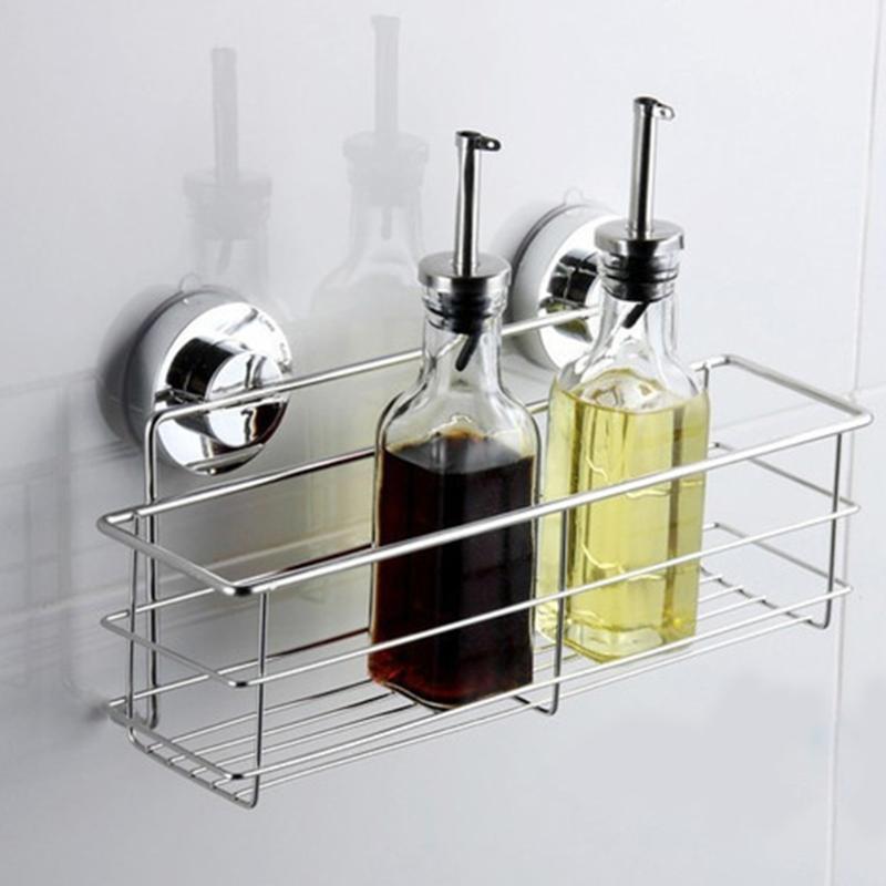 Fregadero de acero inoxidable, organizador de ventosa de vacío, esponjas de cocina, cesta de almacenamiento, jabonera de baño, toallero