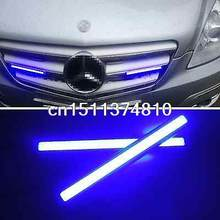 2 Pcs 12V Blue light Waterproof COB LED Daytime Running Lights Fog Lamp For Benz(China)
