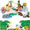 2017 NEW Building Large Particles Blocks Toys Animals DIY The Zoo Set Brick Set Enlighten Child Gift Compatible with Legoe Duplo