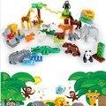 2017 nuevos bloques de construcción partículas grandes juguetes animales diy el zoo set set regalo del niño enlighten ladrillo compatible con legoe Duplo