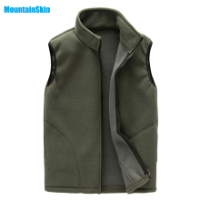 Mountainskin 2017 Men's Spring Fleece Softshell Vest Outdoor Coat Hiking Climbing Trekking Fishing Male Sleeveless Jackets MA125
