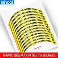 MAVIC DEEMAX MTB felge rad aufkleber mountainbike rad set decals nicht-reflektierende für zwei räder sticke