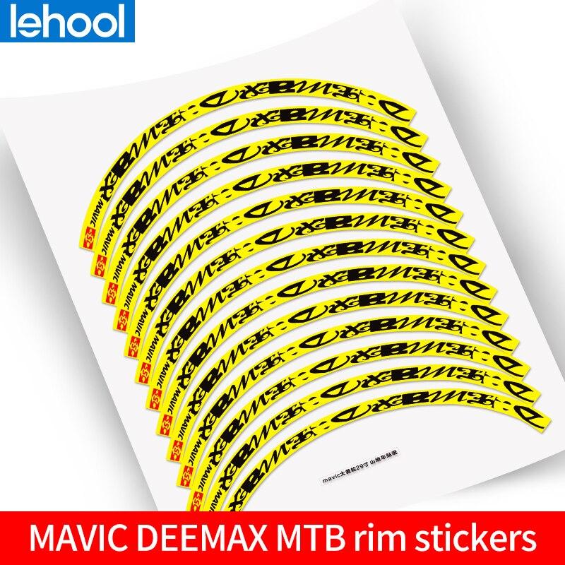 Mavic deemax mtb aro roda adesivos conjunto de roda de bicicleta de montanha decalques não-reflexivo para duas rodas sticke