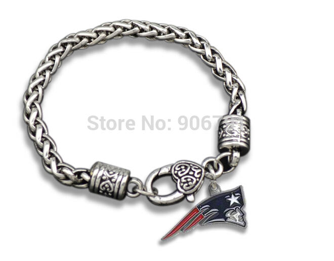 20pcs A Lot Antique Silver Enamel New England Patriots Pendant Bracelet In Cuff Bracelets From Jewelry Accessories On Aliexpress Alibaba Group
