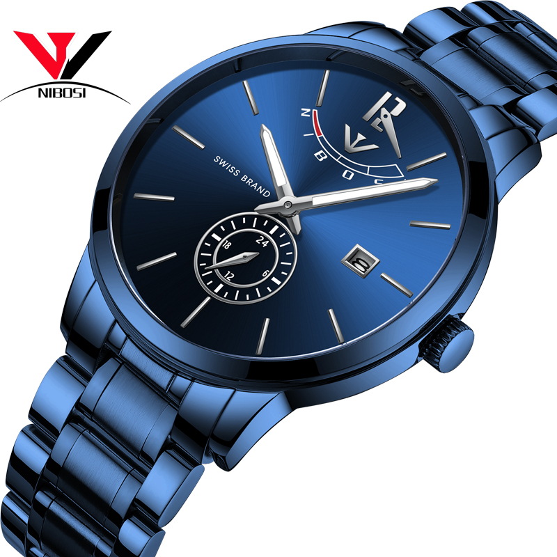 dff16d5dabc NIBOSI 2018 Mens Watches Top Brand Luxury Original Analog Watch For Men  Waterproof Luxury Casual