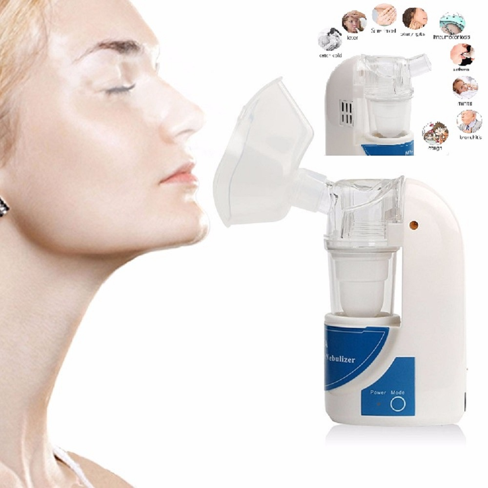 Heal Force Handheld Portable Mini Asthma Inhaler Nebulizer Household Health Care Children Ultrasonic Nebulizer Inhaler Machine heal force advanced handheld eg monitor mini portable lcd electrocard free software 80a holter machine medical equipment