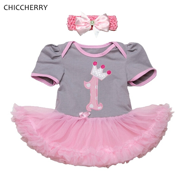 251e356e3643 1 Year Girl Baby Birthday Dress Headband Vestido Infantil Menina Robe Bebe  Fille Girls Party Dresses