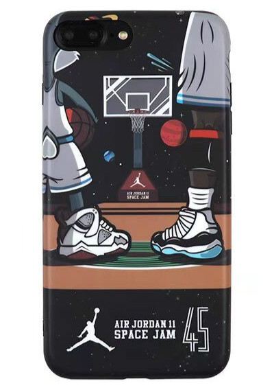 Hot Basketball Michael Air Jordan 11 Space Jam 45 Cell Phone For iPhone 6 6s 6Plus 6sPlus 7 7Plus 8 8Plus X Men Cartoon Cover