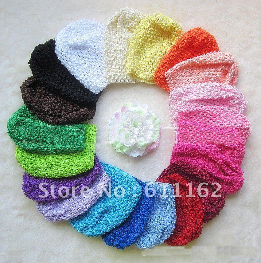 120 шт детское вязанное крючком изделие шапки вафельные шапочки вязаные шапочки детская шапочка шапки смешанные цвета jbuk