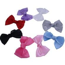 20pcs/lot  Big Satin Bow Boutique Satin Ribbon Bows Barrettes Alligator Hair Clips Hairpins For Girls Women Hair Accessories