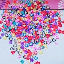 10000 шт фимо фрукты Ломтики Полимерная глина наклейки для ногтей мягкие керамические украшения ногтей, животное, сердце, Рождественская серия DIY