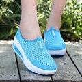 Женщины Мода Повседневная Обувь 2016 Новые Дышащие Платформы женская Обувь Лето Весна Zapatos Mujer Сетки Женщин Клин Обувь