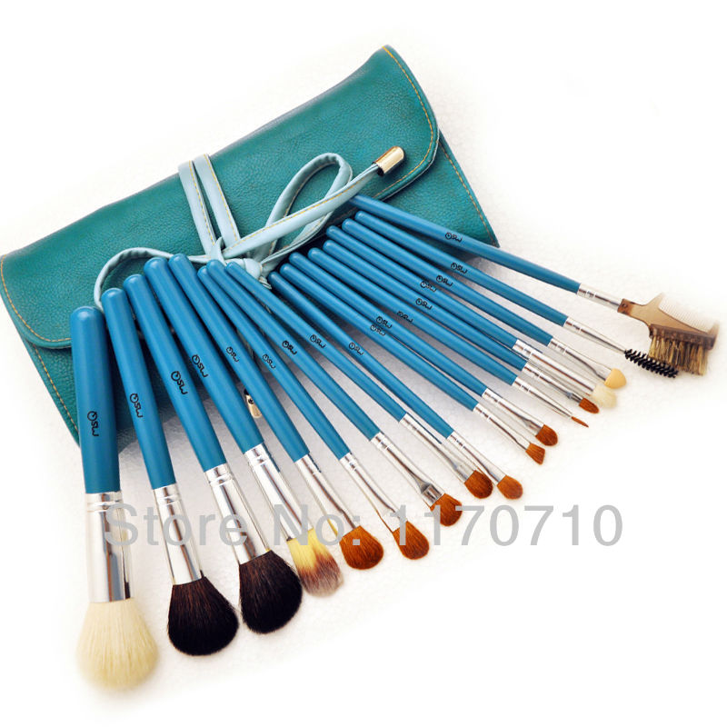 FREE SHIPPING! Best Quality Goat Hair Professional Makeup Brush Set 17PCS/Set Including a Deluxe Leather Bag! best new product on sale 30% 750ml brazilian keratin hair treatment hair free shipping