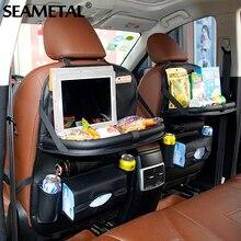 Заднее сиденье автомобиля сумка складной стол организатор сумки телефон площадку стул карман для хранения Box Путешествия закладочных уборки автомобильные аксессуары автотовары Car Styling для авто