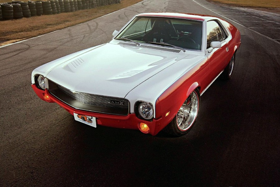 1969 amx muscle car style retro poster silk fabric cloth print wall sticker Wall Decor custom print ...