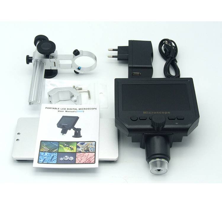 Compra ora! Digital HD LCD Display USB Microscope Continuous Magnifier 1-600X 3.6MP