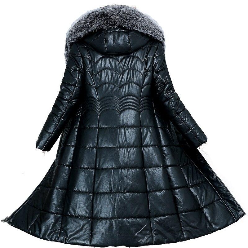 HADAVOE2019 популярное пальто, Зимняя женская куртка с капюшоном, теплые парки, высокое качество, женская новая зимняя коллекция, Модное теплое п... - 2