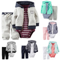 Детей bebes мальчик в девочке одежда набор. детская одежда кака набор костюм розничная meninos conjuntos пальто + боди + брюки 3 шт.