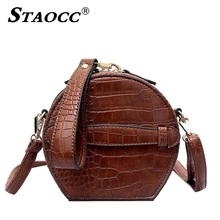 Vintage Alligator Handbag Purses Round Bags Women Designer Messenger Small Shoulder Crossbody Bag Ladies Clutch Leather