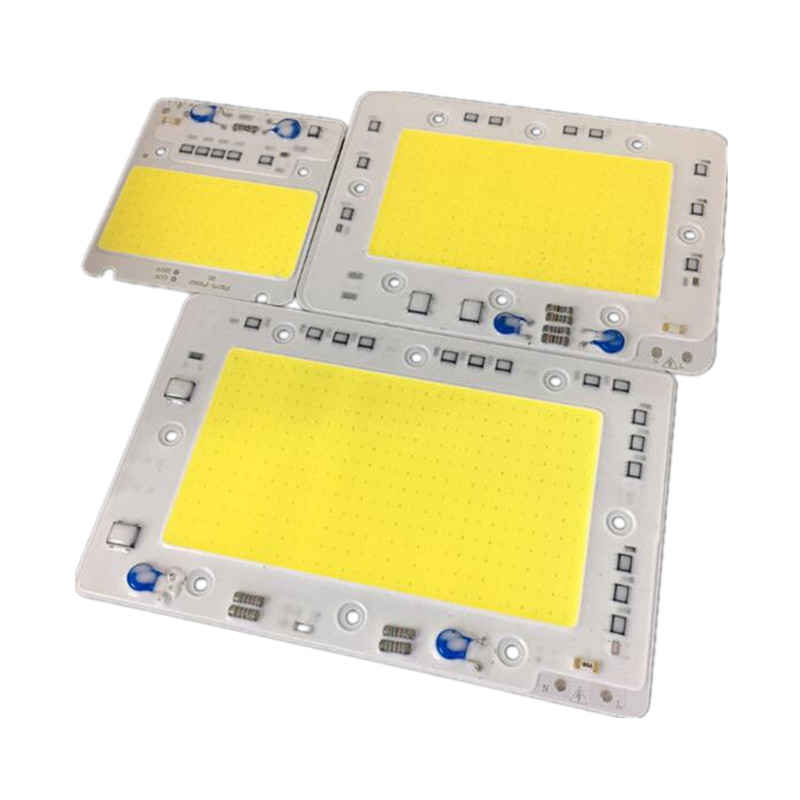 50 w/100 w/150 w LED COB CHIP iluminación AC220V 110V lámpara de reflector LED inteligente IC city power Blanco/blanco cálido envío gratis